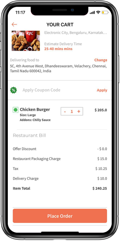 best on demand food ordering app development